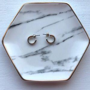 Sterling Silver, gold plated hoop earrings